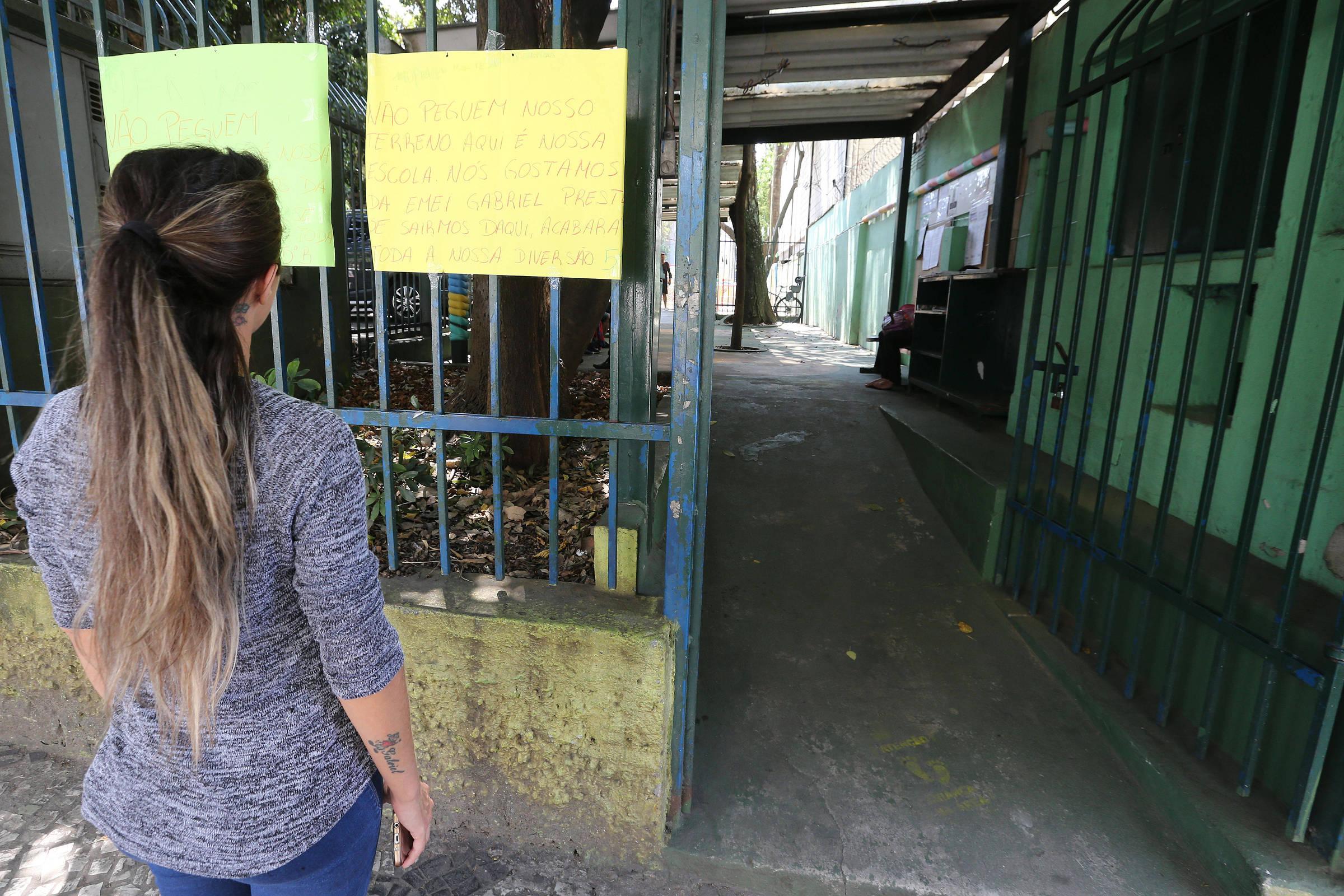 Duas escolas estão em áreas que serão vendidas pela prefeitura de SP