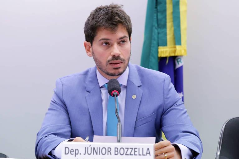O deputado federal Junior Bozzella (PSL-SP) durante audiência na Câmara dos Deputados