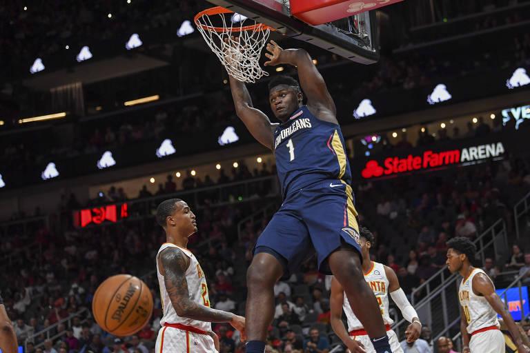 O calouro Zion Williamson, de 19 anos, chega à NBA com a expectativa de se tornar sua próxima estrela