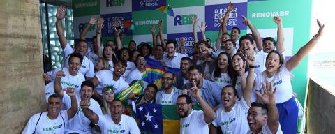 Participantes de encontro promovido pela organização RenovaBR no Recife (PE), com alunos do Nordeste que cogitam disputar eleições em 2020