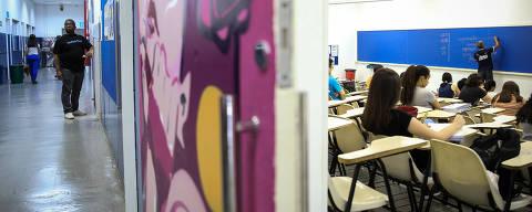 SAO PAULO/ SP, BRASIL, 14-10-2019: Fotos de aulas no Cursinho da Poli (Tatuapé) para caderno especial sobre o Enem.   (Foto: Zanone Fraissat/Folhapress, COTIDIANO)***EXCLUSIVO****