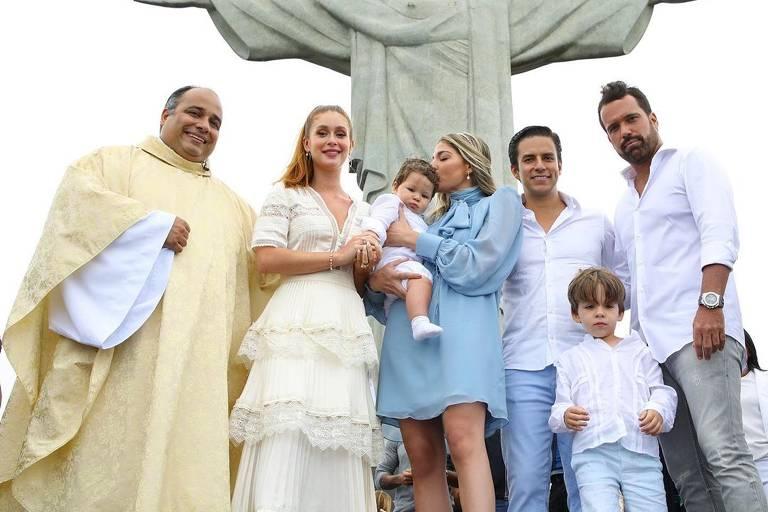 Marina Ruy Barbosa batiza Eduardo, filho da atriz Luma Costa