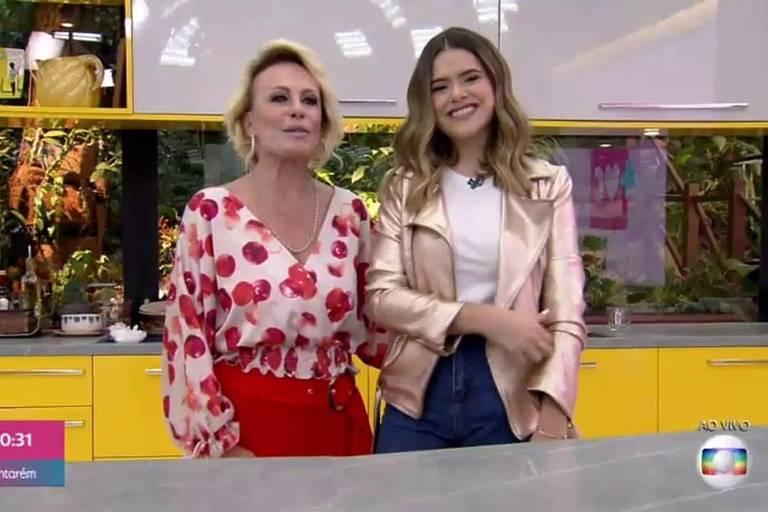 Maisa Silva toma café da manhã com Ana Maria Braga no Mais Você