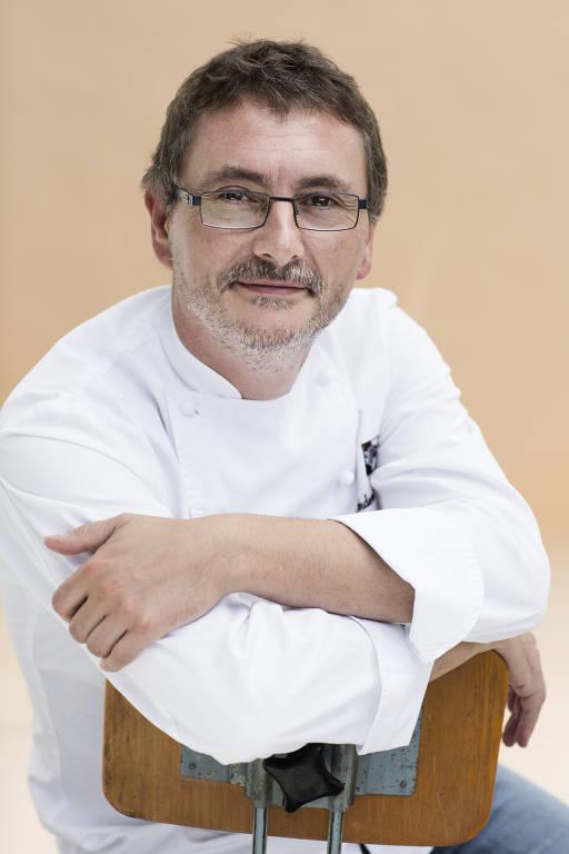 Retrato do chef Andoni Aduriz