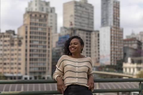 SAO PAULO, SP - 21 AGOSTO: A empreendedora social Adriana Barbosa, fundadora da Feira Preta e da Preta Hub, posa para foto no centro de Sao Paulo, em 21 de agosto de 2019. (Foto: Renato Stockler)******PREMIO EMPREENDEDOR SOCIAL 2019******