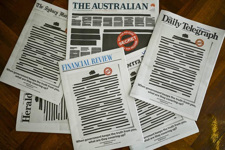 Capas desta segunda-feira dos principais jornais australianos