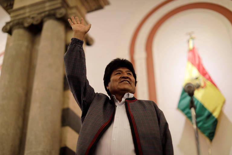 O presidente da Bolívia, Evo Morales, em La Paz, no dia da votação