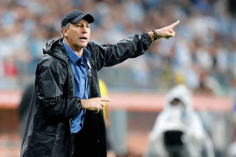 Renato Gaúcho está desde 2016 no Grêmio, o trabalho mais longevo entre os técnicos da elite do Brasil