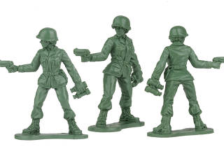 Preliminary models from BMC Toys of Jeff Imel?s plastic female toy soldiers. (Jeff Imel/BMC Toys via The New York Times)