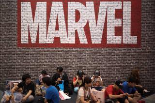 Logo da Marvel em Xangai