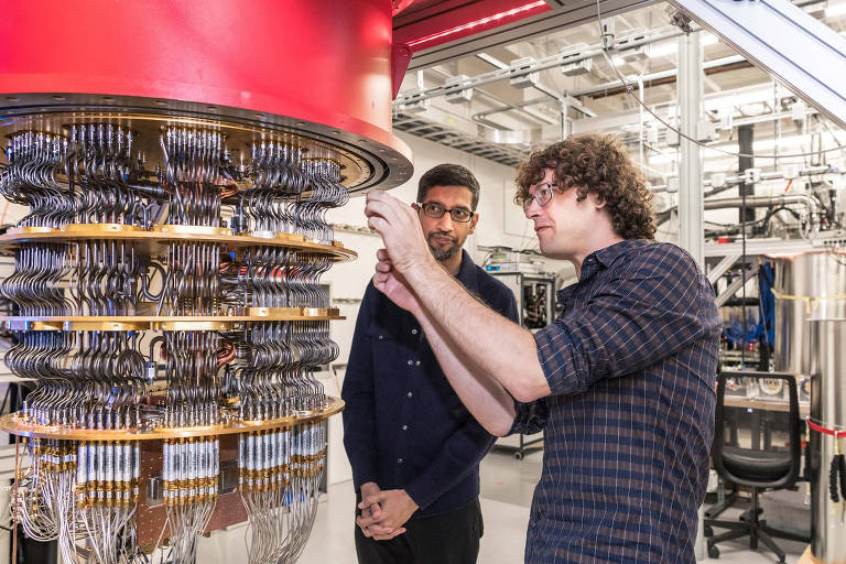 Um dos computadores quanticos do Google