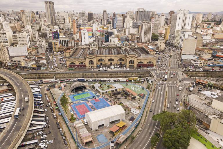 Vista do Parque Dom Pedro II, no centro de São Paulo, que está incluído no projeto de intervenção urbana