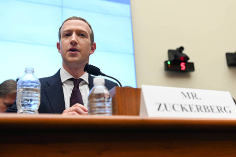 Facebook Chairman and CEO Mark Zuckerberg testifies at a House Financial Services Committee hearing in Washington, U.S., October 23, 2019. REUTERS/Erin Scott ORG XMIT: EMS32