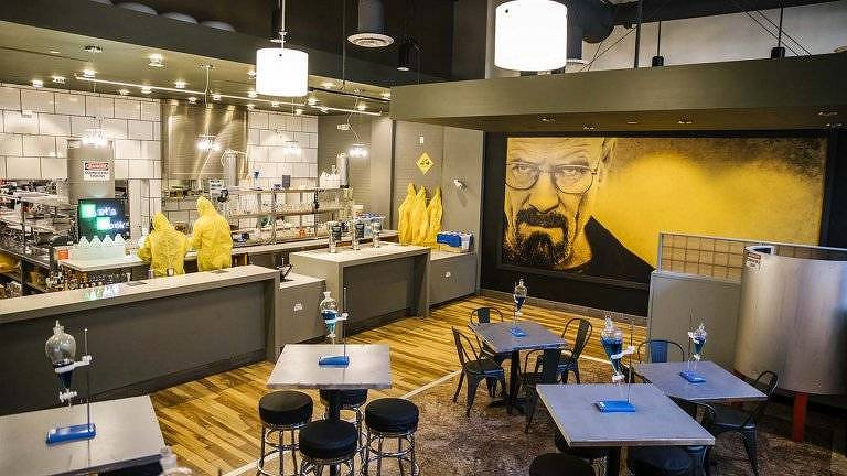 Cenário do The Breaking Bad Experience, restaurante que funciona na West Hollywood