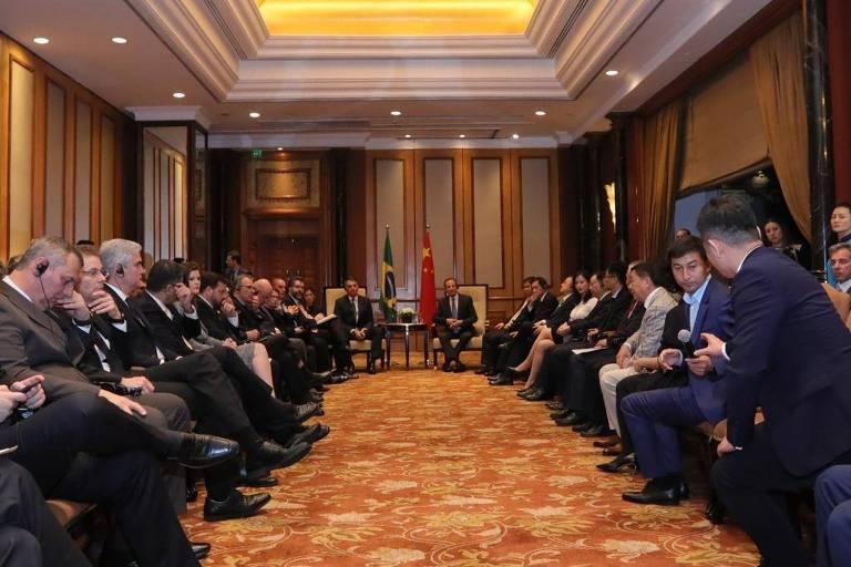 Bolsonaro em reunião com empresário chineses