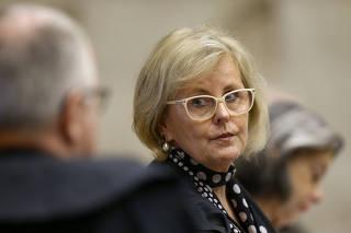 A ministra do STF Rosa Weber durante sessão de julgamento da prisão em 2° instância