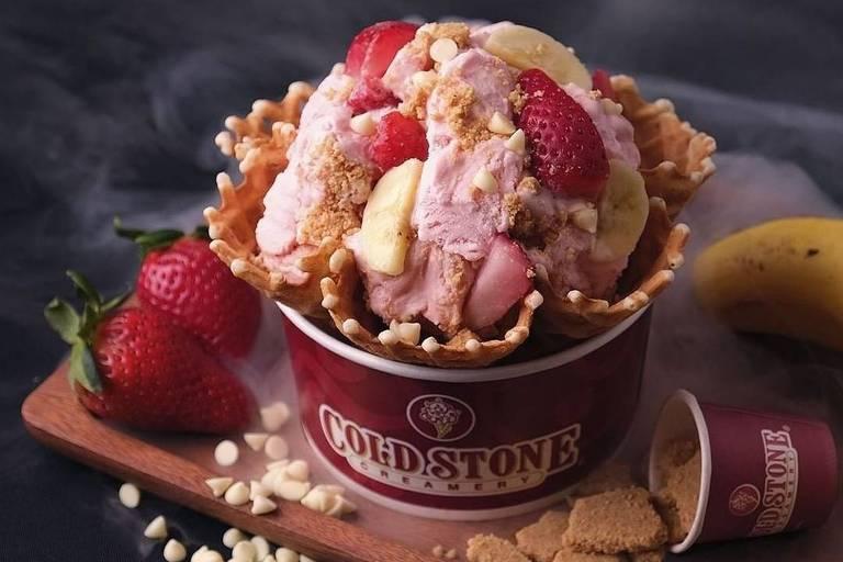 Sorvete da rede Cold Stone Creamery