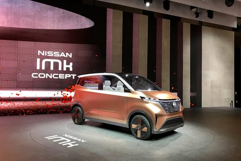 O protótipo Nissan IMK mostra como será a próxima geração de subcompactos da marca; os modelos pequenos com características de minivan são os veículos mais acessíveis do Japão