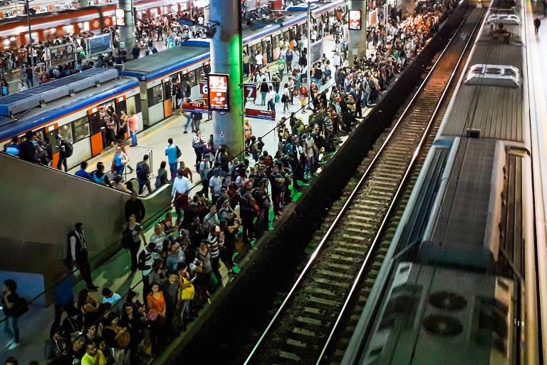 Estação Brás da CPTM, que passará a receber trens também da linha 7-rubi, que parte de Jundiaí (SP)