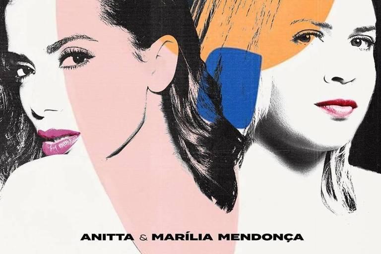 """Capa de """"Some Que Ele Vem Atrás"""", nova música de Anitta e Marília Mendonça"""