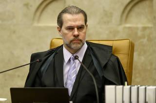 O ministro do STF Dias Toffoli durante sessão de julgamento da prisão em 2° instância