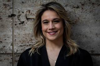 A apresentadora Fernanda Gentil em São Paulo