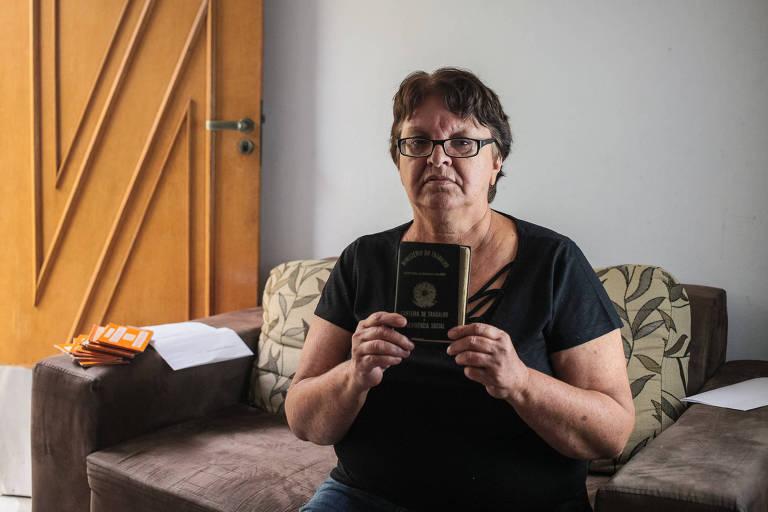 A doméstica Sueli Andreassa da Silva, 61 anos, deu entrada na sua aposentadoria por idade em julho de 2018 e ainda aguarda a resposta do INSS; ela conta que contribuiu por mais de 17 anos à Previdência