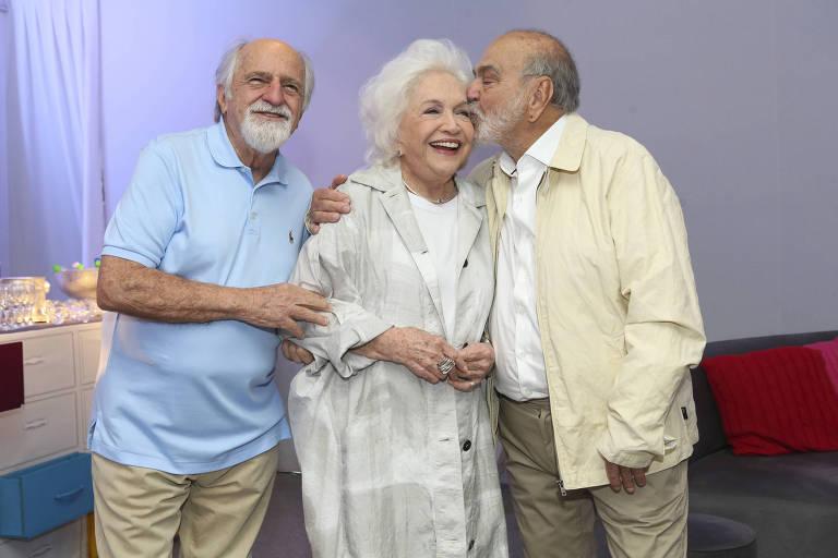 Lima Duarte, Nathalia Timberg e Ary Fontoura
