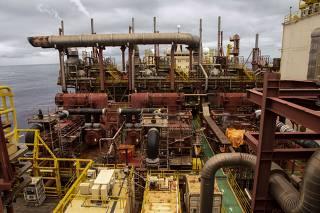 Plataforma de petróleo de Peregrino, no Rio de Janeiro, operada pela Equinor