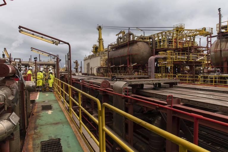 Plataforma de petróleo de Peregrino, no Rio de Janeiro, operada pela norueguesa Equinor