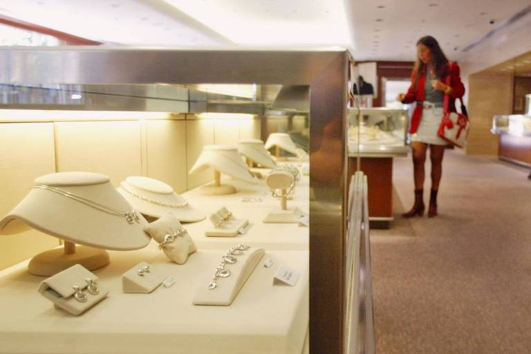 Vista da joalheria Tiffany & Co., no Shopping Iguatemi, em São Paulo