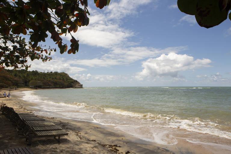 Praia do Espelho, em Trancoso, distrito do município de Porto Seguro, na Bahia