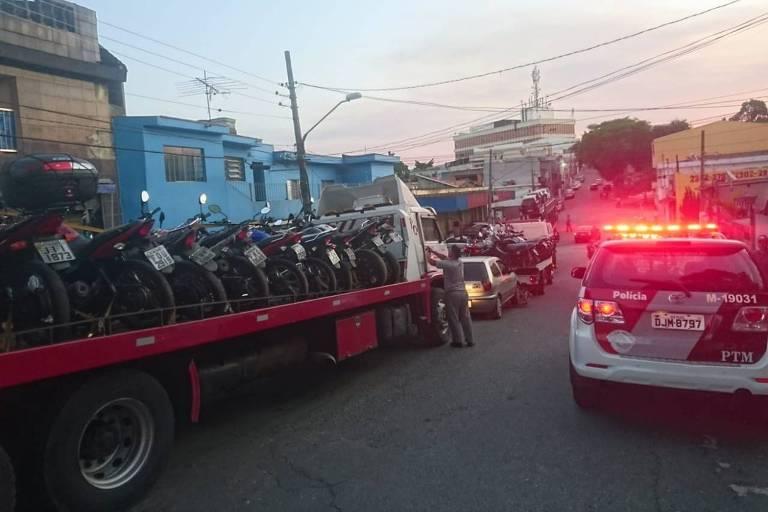PM apreende mais de 600 veículos em ações contra pancadões na zona leste de SP