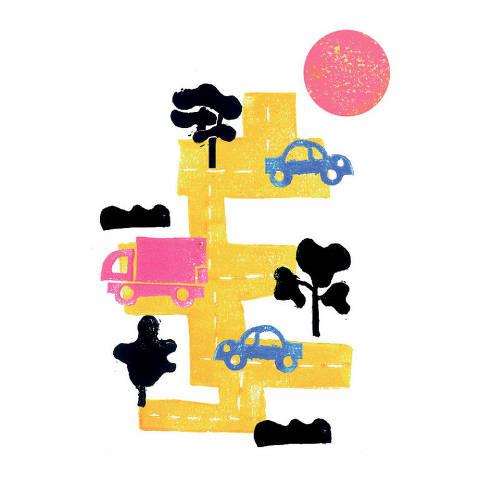 Ilustração Top of Mind - Transporte