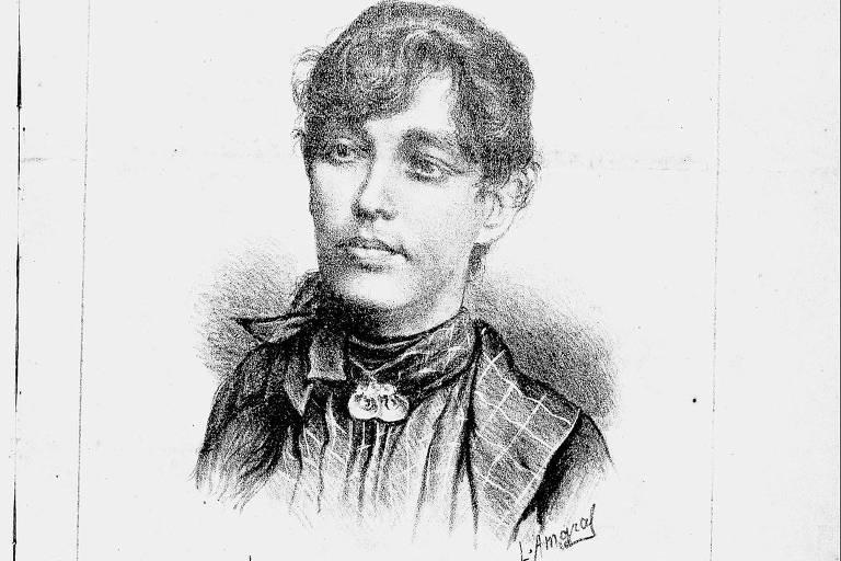"""Capa do periódico """"A Família"""", fundado em 1877 pela jornalista Josefina Álvares de Azevedo, retratada na ilustração"""