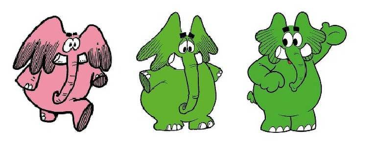 Jotalhão, mascote da Elefante