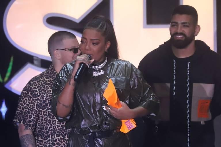 Ludmilla se emociona ao ser anunciada como cantora do ano no Prêmio Multishow 2019