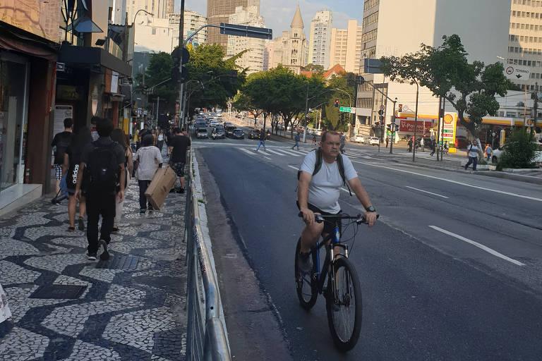 Prefeitura de SP apaga ciclofaixa da Consolação para reforma