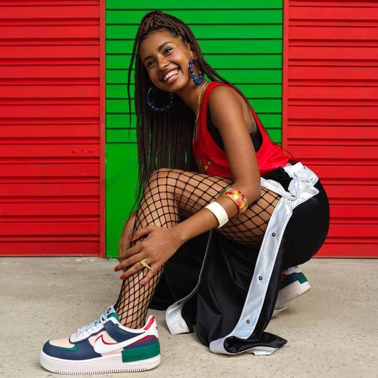 A rapper Gabz em campanha #TodasPorUma da Nike e Authentic Feet