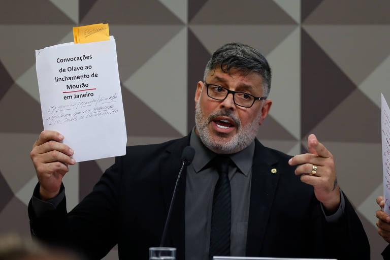 O deputado federal Alexandre Frota (PSDB-SP) durante depoimento na CPI das Fake News em outubro