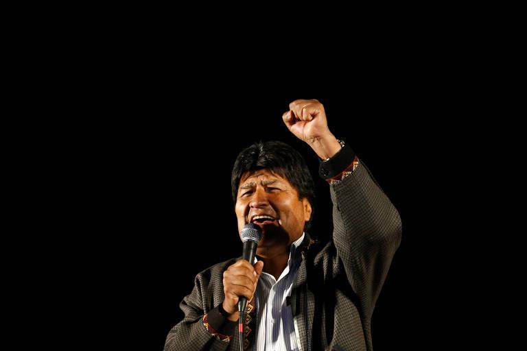 O presidente da Bolívia, Evo Morales, durante evento em El Alto