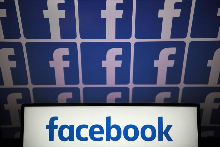 Logo do Facebook; lucro ficou acima do resultado do mesmo trimestre em 2018