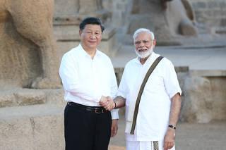 INDIA-CHENNAI-CHINA-XI JINPING-MODI-MEETING