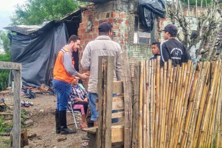 Residência danificada pela chuva em Dom Pedrito (RS)