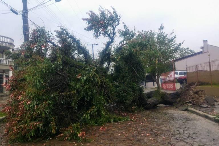 Cidade de Dom Pedrito, na região da campanha gaúcha, sofreu estragos pro causa das fortes chuvas dos últimos dias