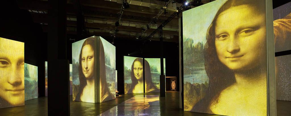 Exposicao 'Leonardo da Vinci - 500 Anos de um Gênio' no espaço do MIS Experience