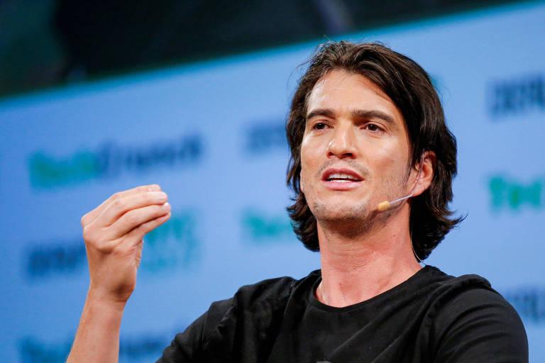 Adam Neumann, cofundador da WeWork, que renunciou que à presidência executiva da empresa em setembro.