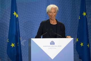 Ceremony with Mario Draghi handing over reins of ECB to Christine Lagarde