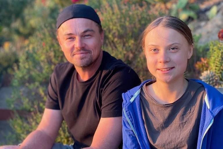 Leonardo Di Caprio e Greta Thunberg