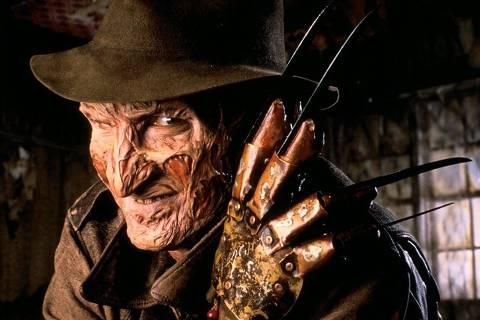Cinema: o ator Robert Englund, como Freddy Krueger, em cena do filme